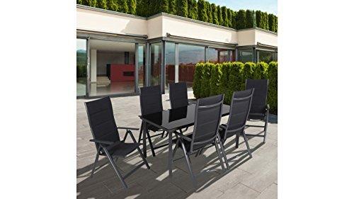 greemotion Alu-Gartensessel, klappbar im 2er-Set, Design-Gartenstühle mit Rückenlehne 7-fach verstellbar, 67 x 58 x 112 cm