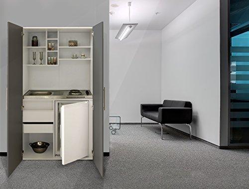 respekta Single Büro Pantry Küche Miniküche Schrankküche grau Ceran