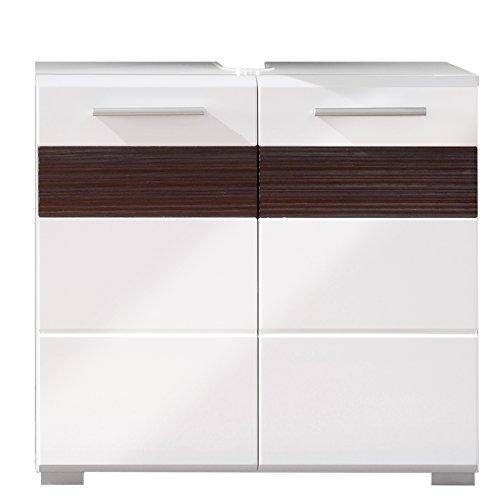 trendteam badezimmer waschbeckenunterschrank unterschrank mezzo 60 x 56 x 34 cm in wei. Black Bedroom Furniture Sets. Home Design Ideas