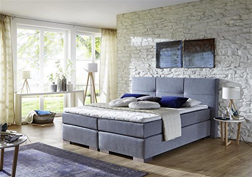 Breckle Boxspringbett 180 x 200 cm Cinderella Box Mero Hollanda 1000 Gel Topper Gel Comfort
