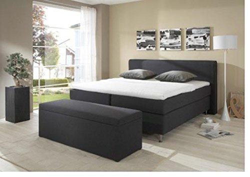 Breckle Boxspringbett 180 x 200 cm Cozy Box mit Stauraum 500 Hollanda 1000 Gel Topper Gel Comfort