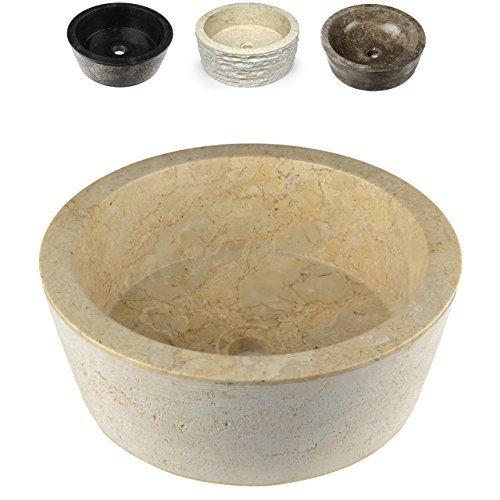 DIVERO Naturstein Handwaschbecken Marmor Unikat Aufsatzwaschbecken