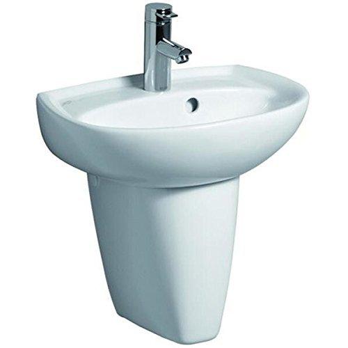 Keramag Renova Nr.1 Handwaschbecken 45 cm mit Hahnloch und Überlauf