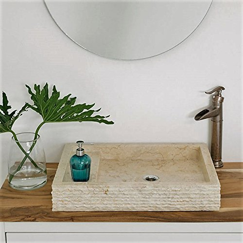 wohnfreuden marmor waschbecken 60x43 cm gro eckig creme. Black Bedroom Furniture Sets. Home Design Ideas