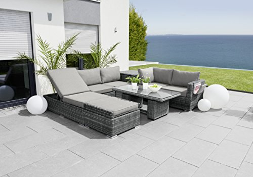 greemotion eckbank mit tisch f r in und outdoor lounge mit stauraum unter den sitzfl chen. Black Bedroom Furniture Sets. Home Design Ideas