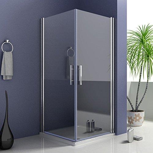 100x80x185cm Duschkabine Duschabtrennung Eckeinstieg Nano Duschtür Duschwand