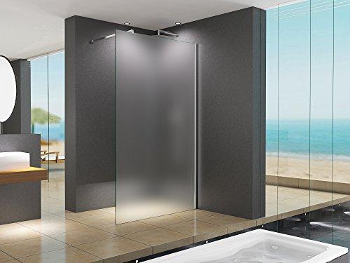 110x200 cm Duschabtrennung LILY Frost, Milchglas, Duschwand, Walk-In Dusche, 10 mm ESG Sicherheitsglas