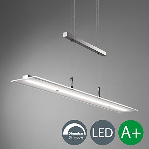 LED Pendelleuchte, Hängelampe, Dimmbar, Tastdimmer an der Hängeleuchte, Wohnzimm