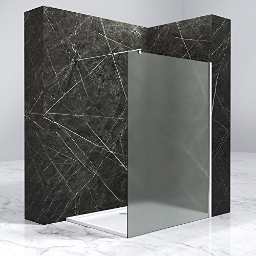 Design Duschwand Sylt02 in Klarglas oder mit Milchglas-Streifen