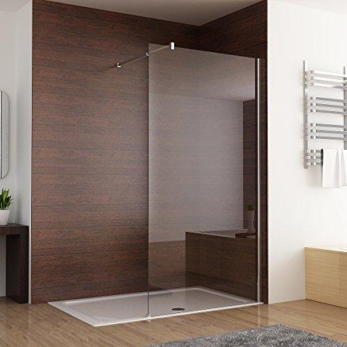 Duschabtrennung walk in Duschwand Seitenwand Dusche 10mm Glas Duschtrennwand 70 x 200 cm