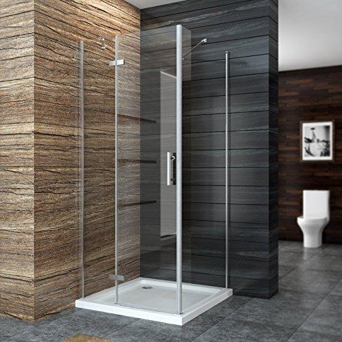Duschkabine Duschabtrennung Scharniertür mit Seitenwand mit Duschtasse