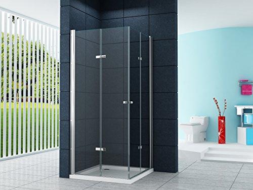 Eckeinstieg Duschkabine Dusche VIGO 80 x 80 x 180cm / 8 mm / ohne Duschtasse