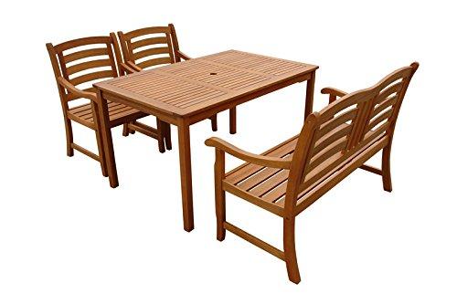 "Indoba Gartenmöbel Set, 4-teilig ""Montana"" - Gartenset - Serie Montana, braun, 135 x 81 x 74 cm, IND-70288-MOSE4GB2"