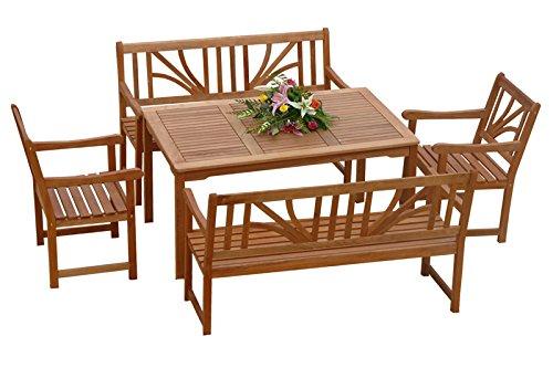 "Indoba Gartenmöbel Set, 5-teilig ""Lotus"" - Gartenset - Serie Lotus, braun, 135 x 85 x 74 cm, IND-70027-LOSE5"