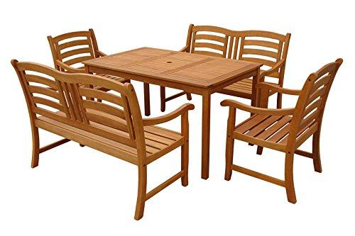 "Indoba Gartenmöbel Set, 5-teilig ""Montana"" - Gartenset - Serie Montana, braun, 135 x 85 x 74 cm, IND-70290-MOSE5GB2"
