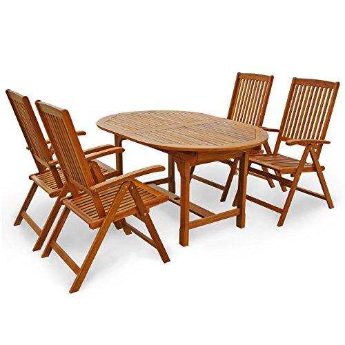 """Indoba Gartenmöbel Set, 5-teilig """"Sun Shine"""" - Gartenset - Serie, braun, 200 x 100 x 74 cm, IND-70300-SSSE5"""