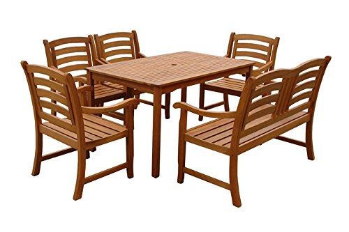 "Indoba Gartenmöbel Set, 6-teilig ""Montana"" - Gartenset - Serie Montana, braun, 135 x 85 x 74 cm, IND-70291-MOSE6"