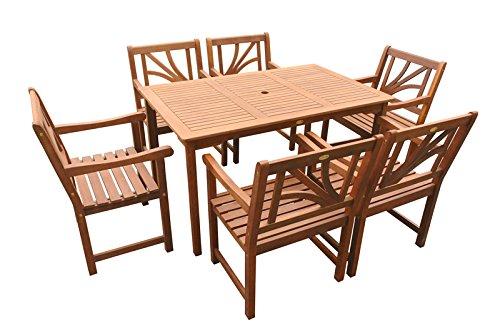"Indoba Gartenmöbel Set, 7-teilig ""Lotus"" - Gartenset - Serie Lotus, braun, 135 x 85 x 74 cm, IND-70061-LOSE7ST6"