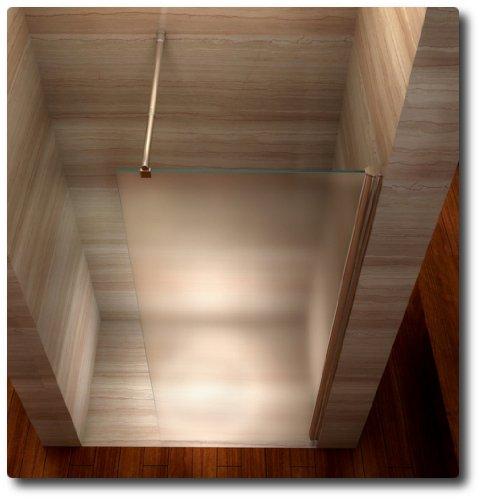 Satinierte Walk In Dusche, 10mm STARK, Duschabtrennung aus ESG Sicherheitsglas mit NANObeschichtung - Alle Größen #840
