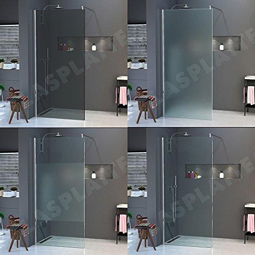 Walk in Dusche Duschkabine Duschglas Duschabtrennung Duschwand Duschglas Duschtrennwand ESG 10mm Nanoeffekt Nanoglas