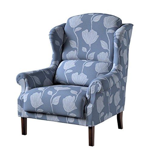 Dekoria Sessel 85 x 107 cm grau-blau