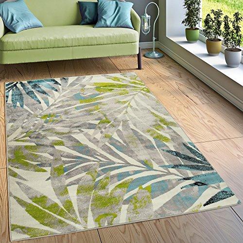 Paco Home Designer Teppich Wohnzimmer Ausgefallen Farbkombination Jungle Design Mehrfarbig, Grösse:200x280 cm