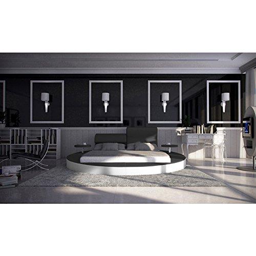 innocent rundbett 180x200 cm kunstleder verstellbare. Black Bedroom Furniture Sets. Home Design Ideas