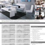 CAVADORE Vorbank CHARISSE/Küchenbank 140 cm breit in weiß/Moderne, gepolsterte Sitzbank/Kunstleder-Bank weiß/Bank ohne Lehne: 140 x 45 x 48 cm (B x T x H)
