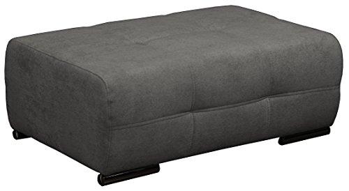 CAVADORE 5036 Polsterhocker Mistrel mit Steppung/Sofa-Hocker/Sitzhocker/Passend für Polstermöbel Mistrel/Maße: 109 x 42 x 73 (B x H x T)/Farbe: Dunkelgrau (Fango)