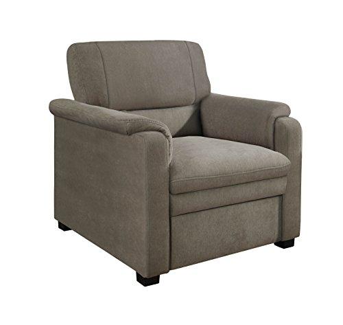 Cavadore Sessel Pisoo im klassischen Design / Gemütlicher Fernsehsessel fürs Wohnzimmer / Wohnzimmersessel / Größe: 86 x 89 x 90 cm (BxHxT) / Farbe: Elefant (hellgrau)