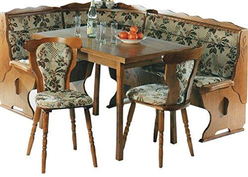 Eckbank - Küchenbank - Eckbankgruppe - Eiche rustikal P43 - 2 Stühle - Küchenstühle - ausziehbarer Tisch - mehrere Varianten - Einzelelemente bestellbar (2534)