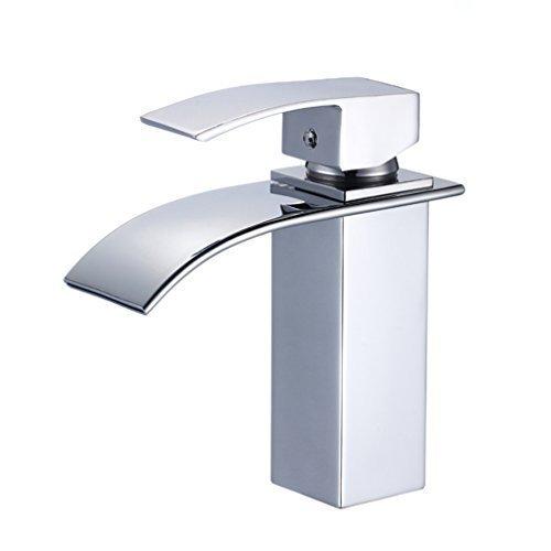Elegant 2 Jahre Garantie Einhebel Mischbatterie Wasserhahn Armatur Waschtischarmatur Wasserfall Einhandmischer für Bad Badezimmer Waschbecken