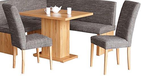 Küchen-Essgruppe mit 2 Stühlen und 1 Tisch in Kernbuche teilmassiv - Tischgruppe Kernbuche deko - 3184