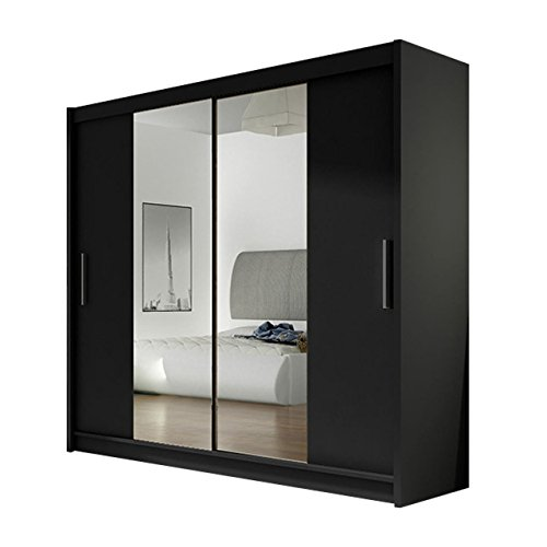 kleiderschrank london ii mit spiegel schiebet renschrank schwebet renschrank modernes. Black Bedroom Furniture Sets. Home Design Ideas