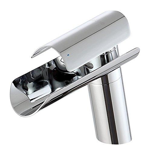 MICOE Waschtischarmatur Wasserfall Badarmaturen Edelstahl Moderner Wasserhahn Bad Waschbecken Armatur Badezimmer Armaturen Einhand Mischbatterie
