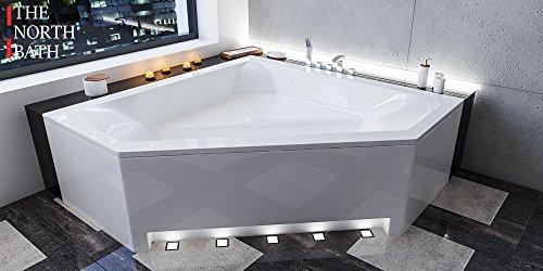 bestshop24.eu EXCLUSIVE LINE North Bath DOCCIA Rechteckbadewanne Acryl 140x140 cm mit Schürze TOP Ablaufgarnitur Hochwertiger Sanitäracryl