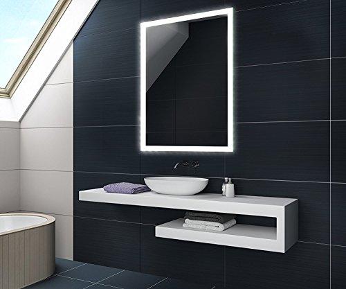 60 x 80 / 80 x 60 cm Design Badspiegel mit LED Beleuchtung von Artforma   Vertikal oder Horizontal Wandspiegel Badezimmerspiegel  Spiegel mit Gehäuse