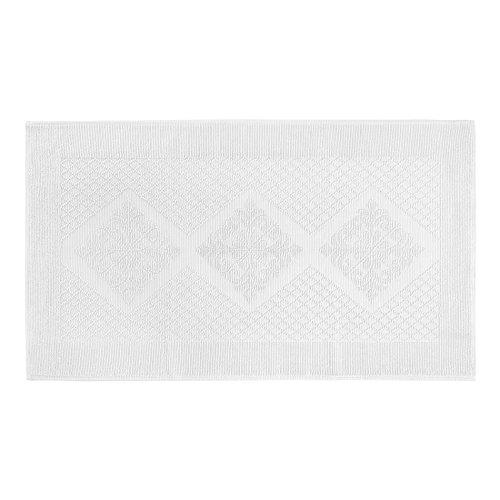 Coin Haus 6679726Bad Teppich Kurzflor Jacquard, 100% Baumwolle, Weiß, 70x 120x 0.5cm