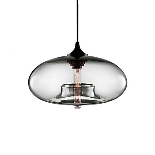 E27 Vintage Industrial Edison Glas Pendelleuchte (Grau)