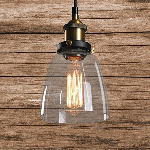 Glas Hängeleuchte Vintage Retro Pendelleuchte Deckenlampen Café Hängelampe Kuche Deckenlampen Loft Edison Hängelampe