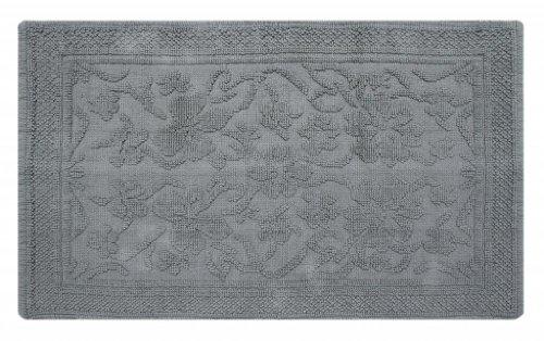 Homescapes Klassischer Jacquard Muster Teppich grau Läufer 66 x 200 cm 100% reine Baumwolle