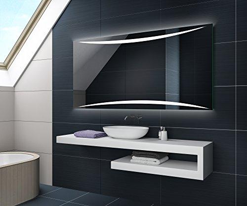 KALTWEIß 70 x 50 cm Design Badspiegel mit LED Beleuchtung von Artforma   Wandspiegel Badezimmerspiegel  Spiegel nach Maß