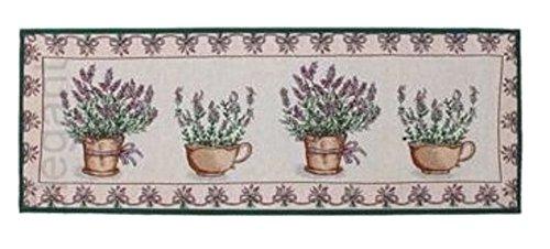 Küche / Schlafzimmer / Treppe Teppich Teppich Lavendel-Druck Waschbar Jacquard-Material Gummi zurück, rutschfest, rutschfest, super saugfähig. 134 x 49 cm
