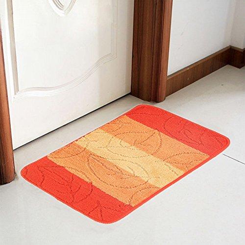 PLLP Polypropylen Jacquard Teppich Fußmatten Bad Rutschfeste Saugfähige Fußmatte Hause Schlafzimmer Fußstütze Streifen Teppich,Ein,40 × 60 cm