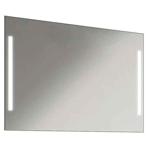 Schreiber Design LED Badspiegel Badezimmerspiegel mit Beleuchtung Easy 90 cm Breit x 60 cm Hoch Licht Links+Rechts