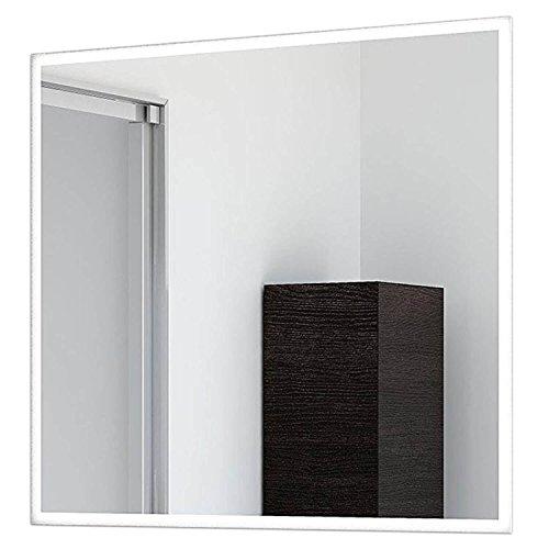 Schreiber Design LED Badspiegel Frame mit umlaufender LED Beleuchtung und 2cm satiniertem Rand 45 cm Breit x 60 cm Hoch Warmweiß 3.000K