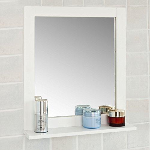 SoBuy FRG129-W Spiegel Wandspiegel Badspiegel mit Ablage Weiß BHT: 40x49x10cm