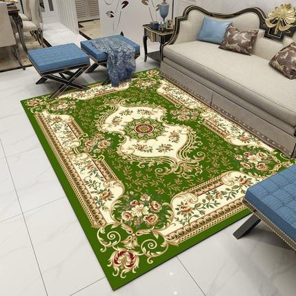 XMMGCDT Rug Carpet Teppich Teppich Jacquard Große Teppich Wohnzimmer Tee Tisch Schlafzimmer Nachttisch Hoteldecke, 66-Green, 120X160Cm