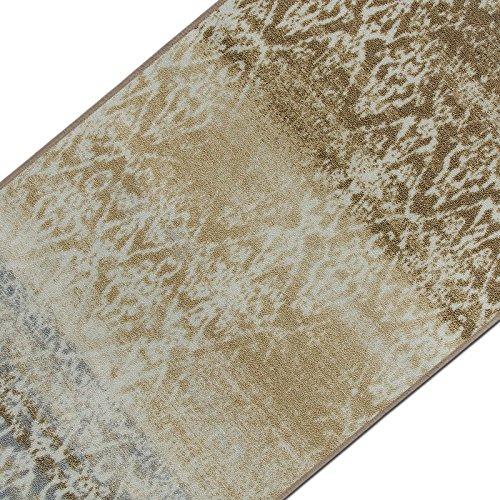 casa pura Vintage Teppichläufer | im Angesagten Shabby Chic Look | Hochwertige Meterware, gekettelt | Kurzflor Teppich Läufer | Küchenläufer, Flurläufer (Beige,80x150 cm)
