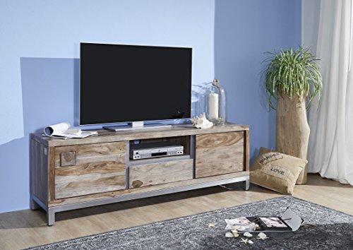 massivmoebel24 TV-Board Sheesham/Akazie 170x40x56 gebeizt LE HAVRE #14 modern